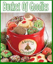 Christmas Gift Bucket Of Goodies